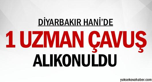 Diyarbakır'da bir uzman çavuş alıkonuldu