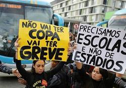 Brezilya'da Dünya Şampiyonası Protestosu