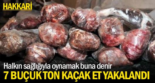 Hakkari'de 7 ton 500 kilo kaçak et yakalandı
