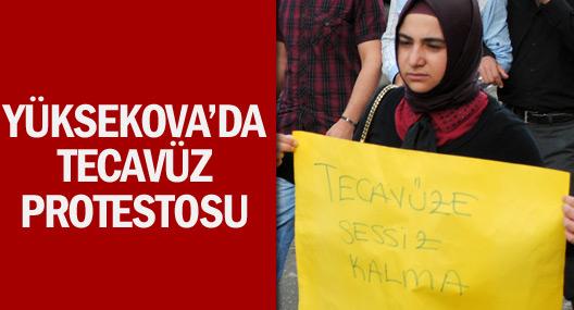 Yüksekova'da tecavüz protestosu