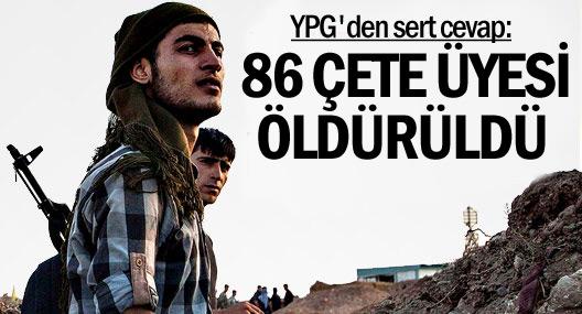 YPG: Serêkaniyê'de 86 çete üyesi öldürüldü
