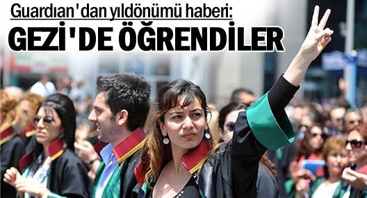 Guardian: Gezi korku duvarını yıktı, Türkiye'ye dayanışmayı öğretti