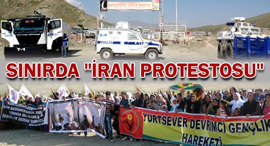 Yüksekovalılar idamlara karşı İran sınırına yürüdü