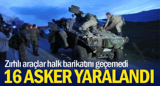 Varto'da asker halk barikatını geçemedi