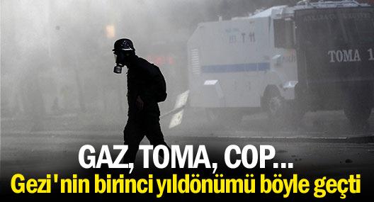 Gezi'nin birinci yıldönümü: Gaz, TOMA, cop...