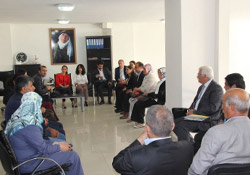 BDP'li eş başkanlardan VAN-DER'e ziyaret