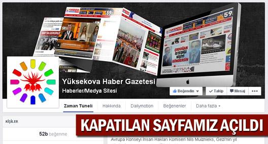 Yüksekova Haber'in kapatılan Facebook sayfası tekrar açıldı