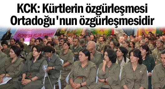 KCK: Kürt halkının özgürleşmesi Ortadoğu halklarının özgürleşmesidir