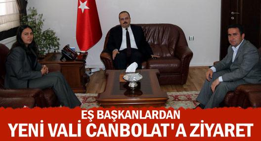 Eş Başkanlar Vali Canbolat'ı ziyaret etti
