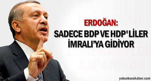 Başbakan Erdoğan'dan 'İmralı' sorusuna yanıt