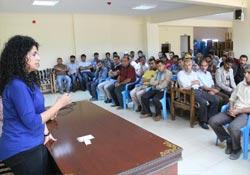 Bismil'de taşeron çalışanlarıyla toplantı alındı