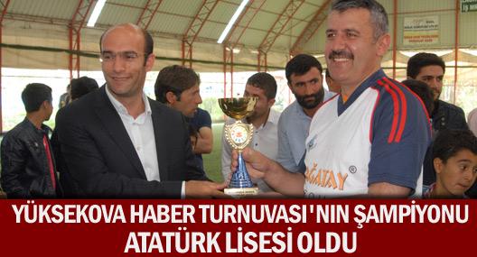 Yüksekova Haber Turnuvasının şampiyonu Atatürk Anadolu Lisesi oldu