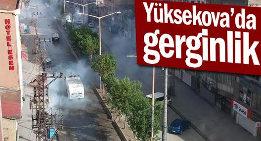 Yüksekova basın açıklaması ardından müdahale