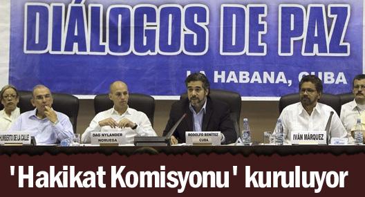 Kolombiya'da 'Hakikat Komisyonu' kuruluyor