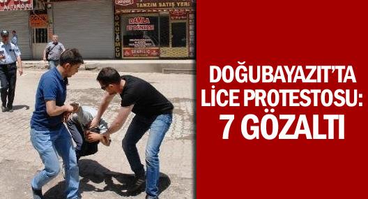 Doğubayazıt'ta Lice Protestosu: 7 Gözaltı