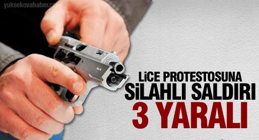 Midyat'ta Lice protestosuna silahlı saldırı: 3 yaralı