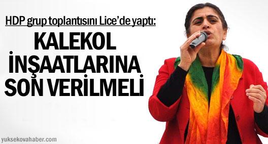 HDP grup toplantısını Lice'de yaptı