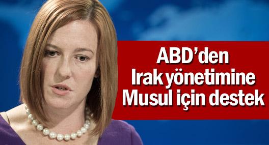 ABD'den Irak yönetimine Musul için destek ve bir milyar dolar sözü