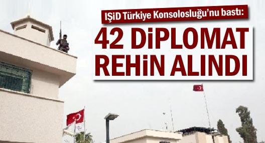 IŞİD Türkiye Konsolosluğunu işgal etti, 42 kişiyi rehin aldı