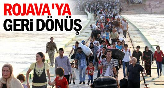 Rojava'ya iki günde 785 kişi geri döndü