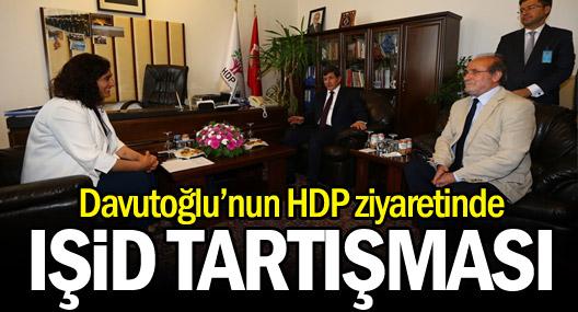 Davutoğlu'nun HDP ziyaretinde IŞİD tartışması
