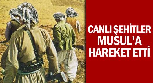 'Canlı şehitler' Musul'a hareket etti!