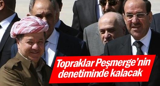 Kürdistan toprakları Peşmerge Güçleri'nin denetiminde kalacak