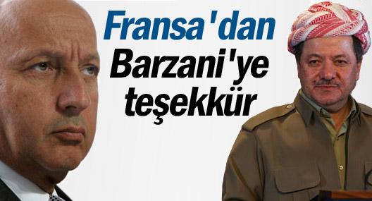 Fransa, Barzani'ye teşekkür etti