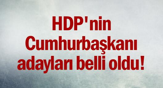 HDP'nin Cumhurbaşkanı adayları belli oldu!