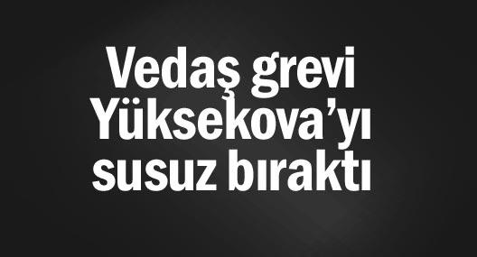Vedaş grevi Yüksekova'yı susuz bıraktı