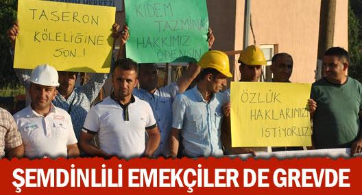 Şemdinli'de işçilerin eylemi sürüyor