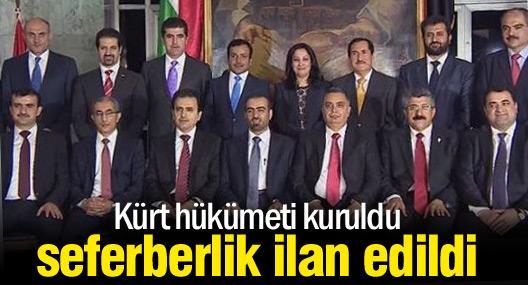 Kürt hükümeti kuruldu, seferberlik ilan edildi