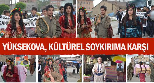 Yüksekova'da 'Kültürel Soykırıma' karşı yürüyüş
