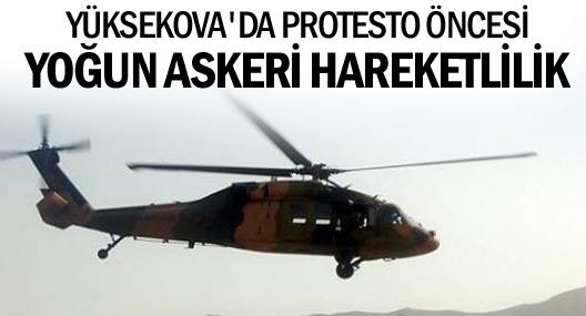 Yüksekova'da protesto öncesi asker sevkiyatı