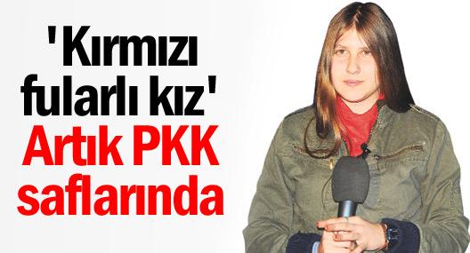 'Kırmızı fularlı kız' artık PKK saflarında