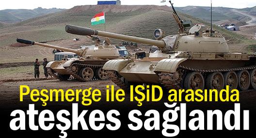 Peşmerge ile IŞİD arasında ateşkes sağlandı