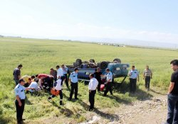 Muş'ta Kaza, 4 Yaralı
