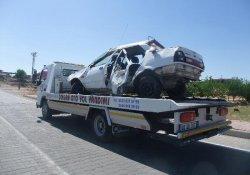 Kahta'da Otomobil Devrildi: 2 Ölü