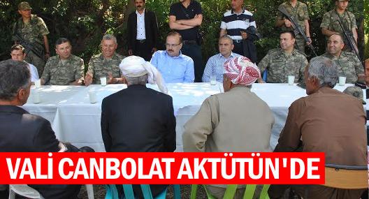 Vali Canbolat, Aktütün köyünü ziyaret etti