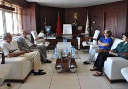TEV-DEM temsilcileri Türk ile görüştü