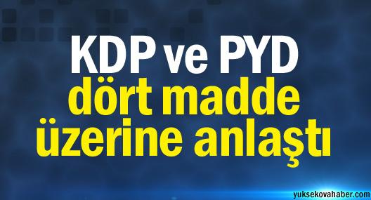 KDP ve PYD dört madde üzerine anlaştı