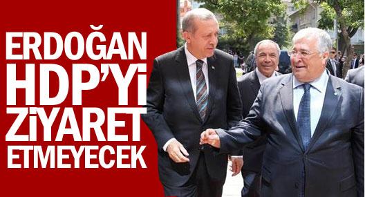 Erdoğan HDP'yi ziyaret etmeyecek