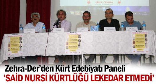 Zehra-Der'den Kürt Edebiyatı Paneli