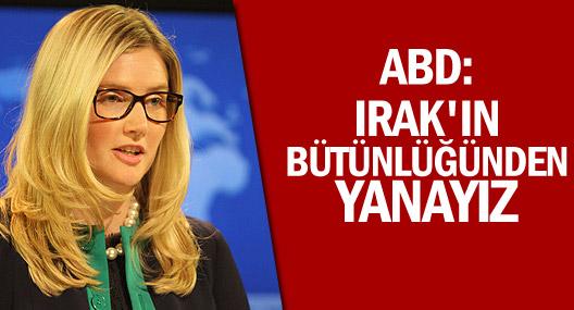 Abd: Irak'ın Bütünlüğünden Yanayız