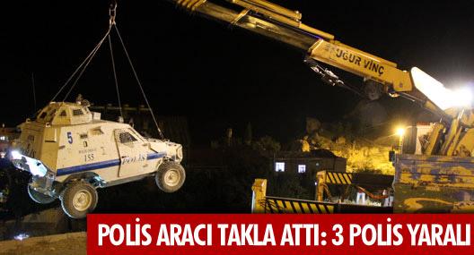 Hakkari'de polis aracı kaza yaptı