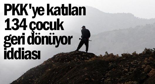 PKK'ye katılan 134 çocuk dönüyor iddiası