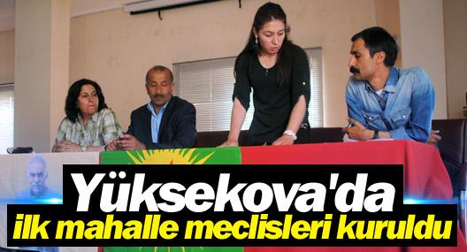 Yüksekova'da ilk mahalle meclisleri kuruldu