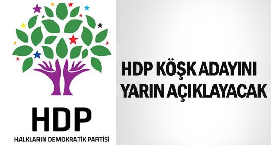 HDP Köşk adayını yarın açıklayacak