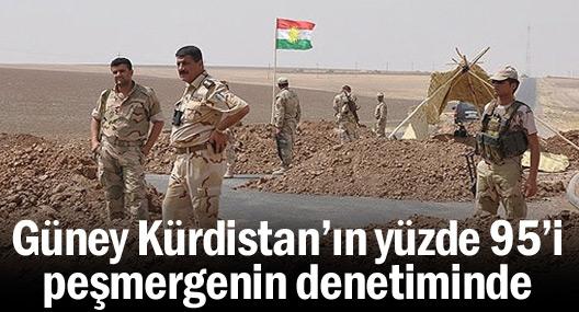 Güney Kürdistan'ın yüzde 95'i peşmergenin denetiminde