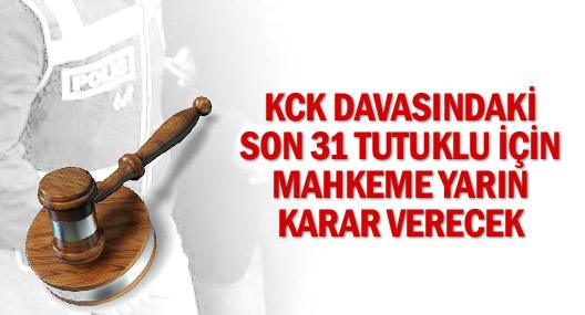 Kck Davasındaki Son 31 Tutuklu İçin Mahkeme Yarın Karar Verecek